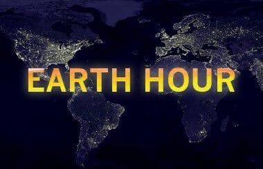 earth hour earth at night