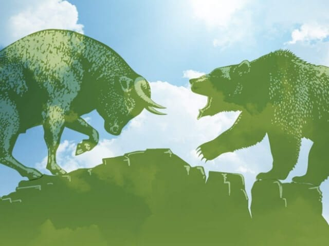 21st-century cage match: the Cleantech Bulls versus the Climate Bear