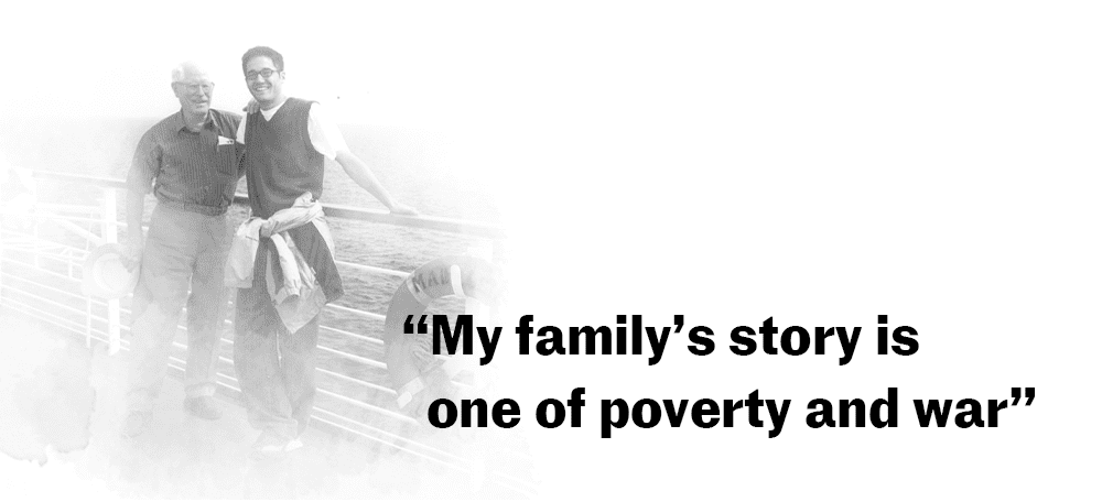 """My family's story is one of poverty and war"""