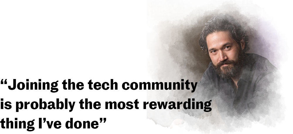 """Joining the tech community is probably the most rewarding thing I've done"""
